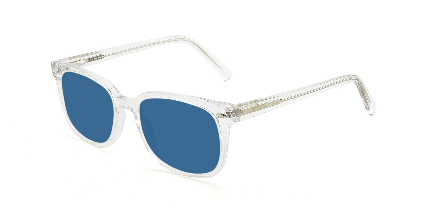 Angle of 17349 in Clear with Blue Tinted Lenses