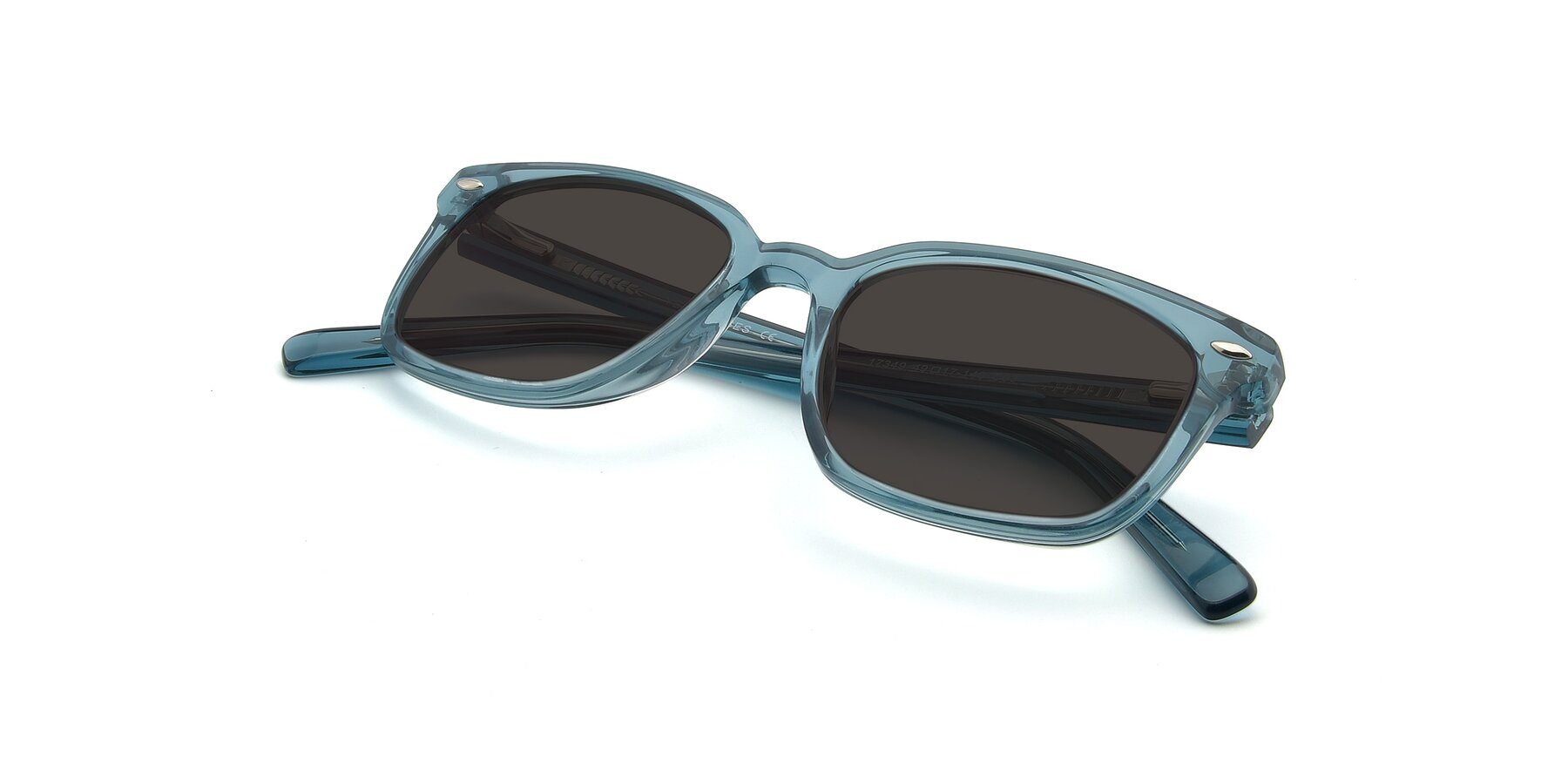 View of 17349 in Transparent Cyan with Gray Tinted Lenses