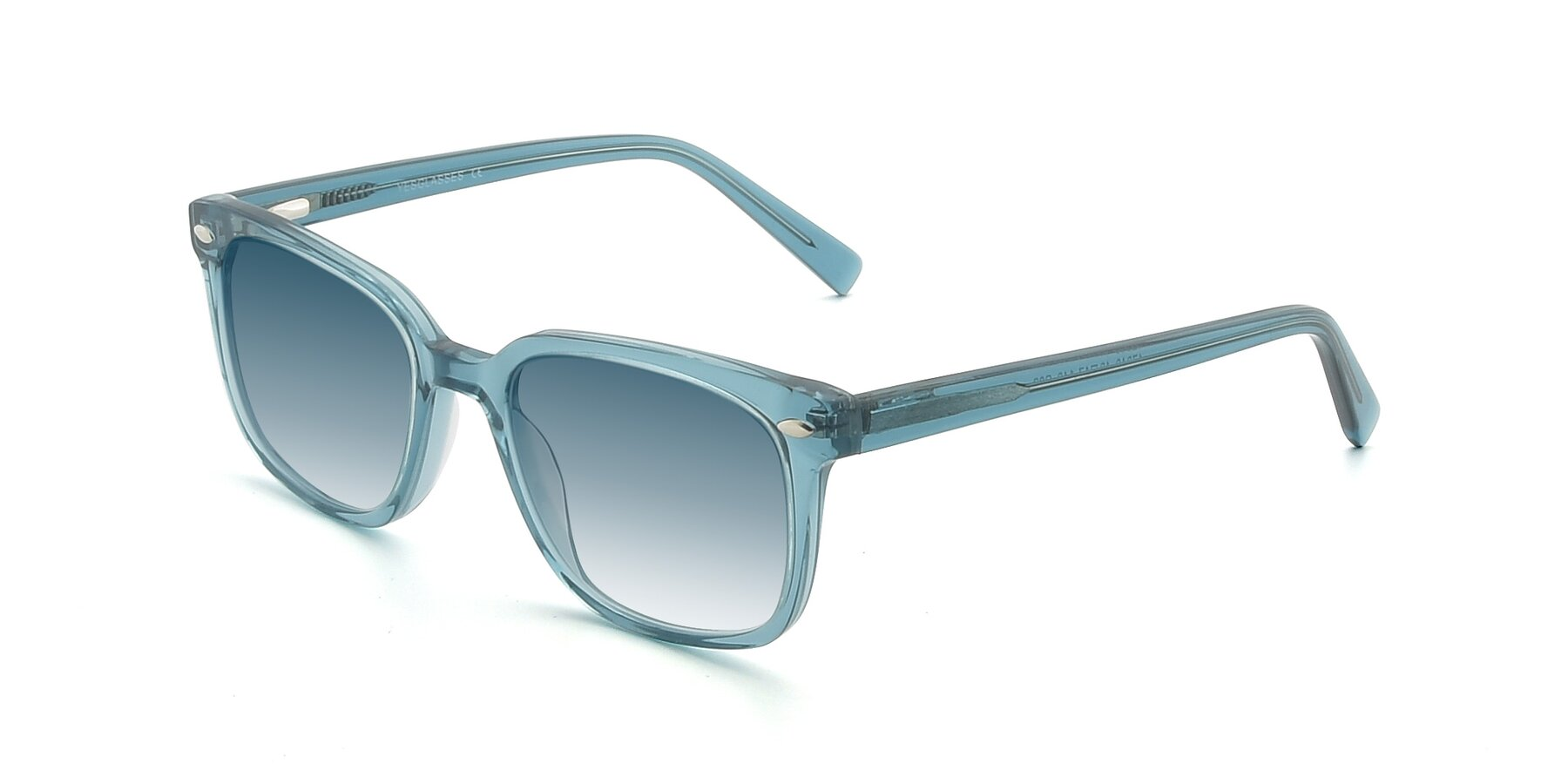 Angle of 17349 in Transparent Cyan with Blue Gradient Lenses