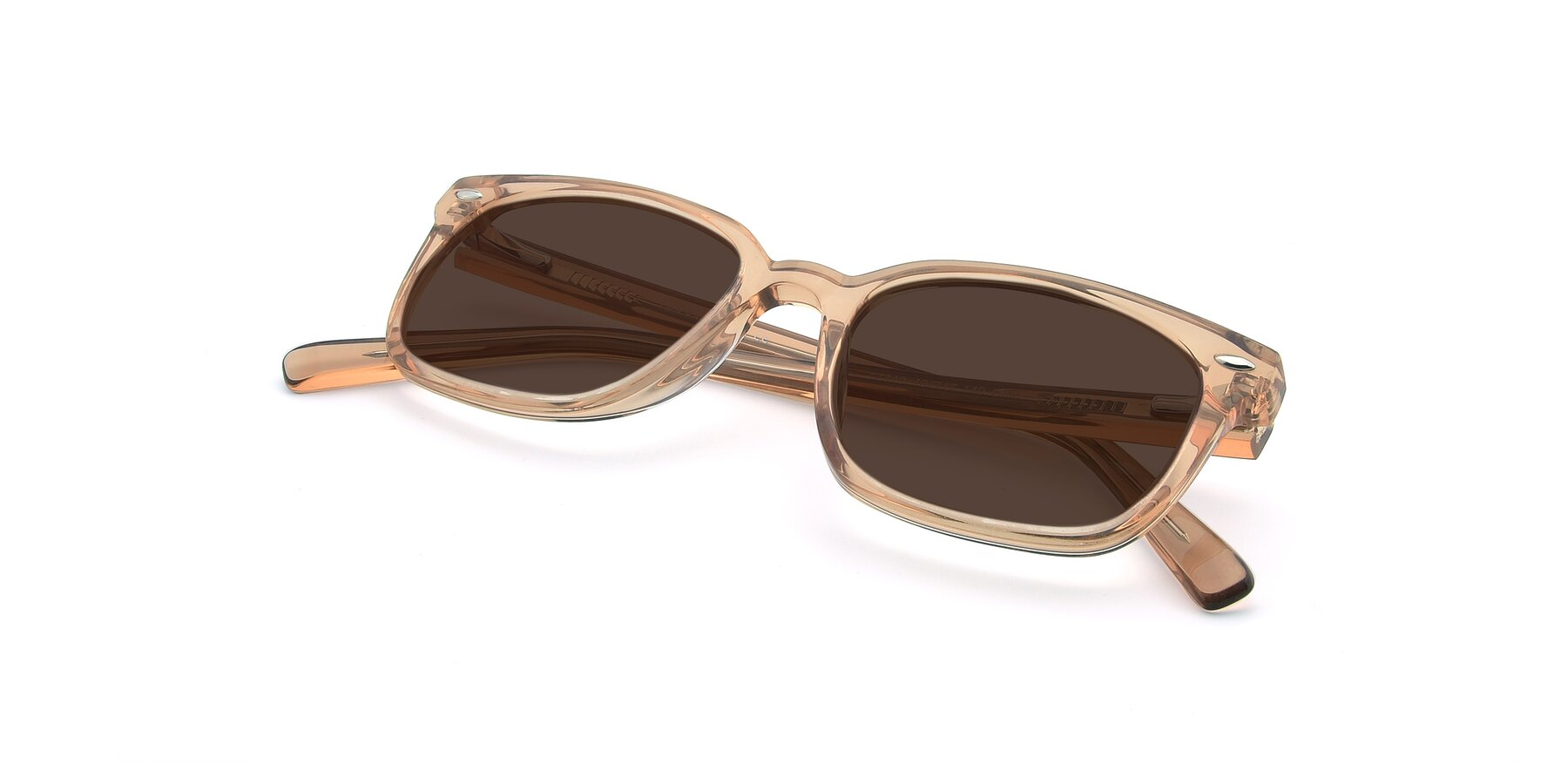 View of 17349 in Transparent Caramel with Brown Tinted Lenses