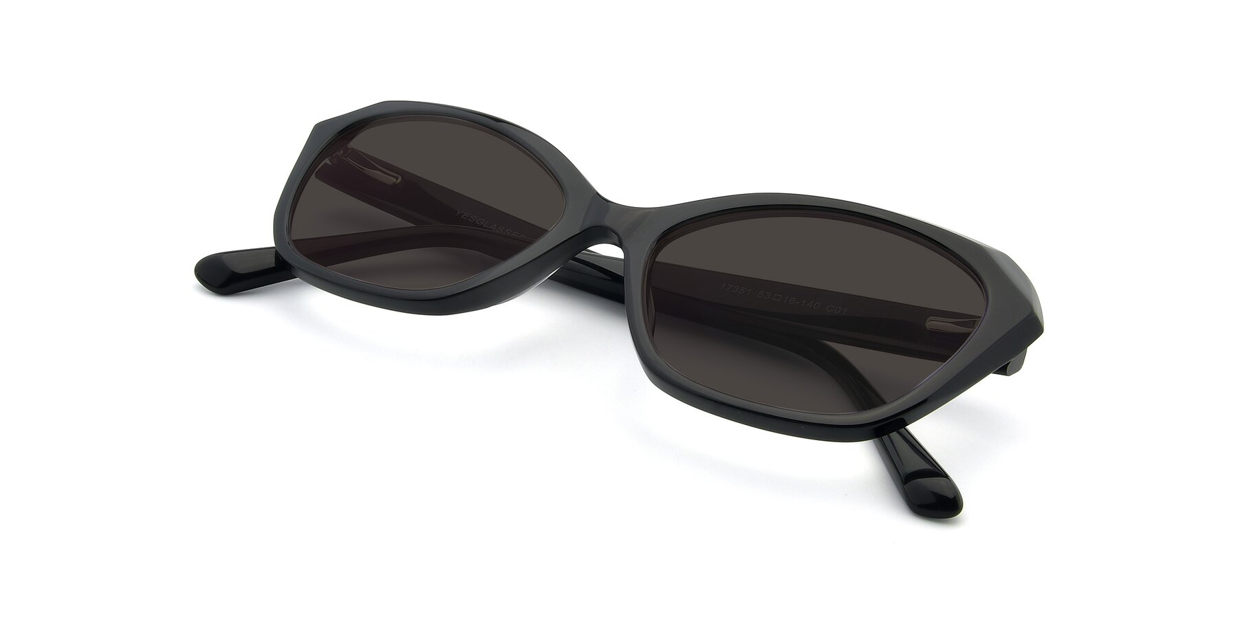 View of 17351 in Black with Gray Tinted Lenses
