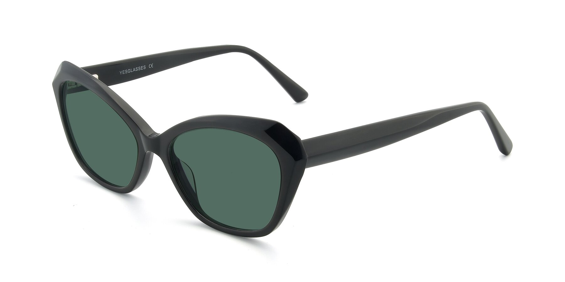Angle of 17351 in Black with Green Polarized Lenses