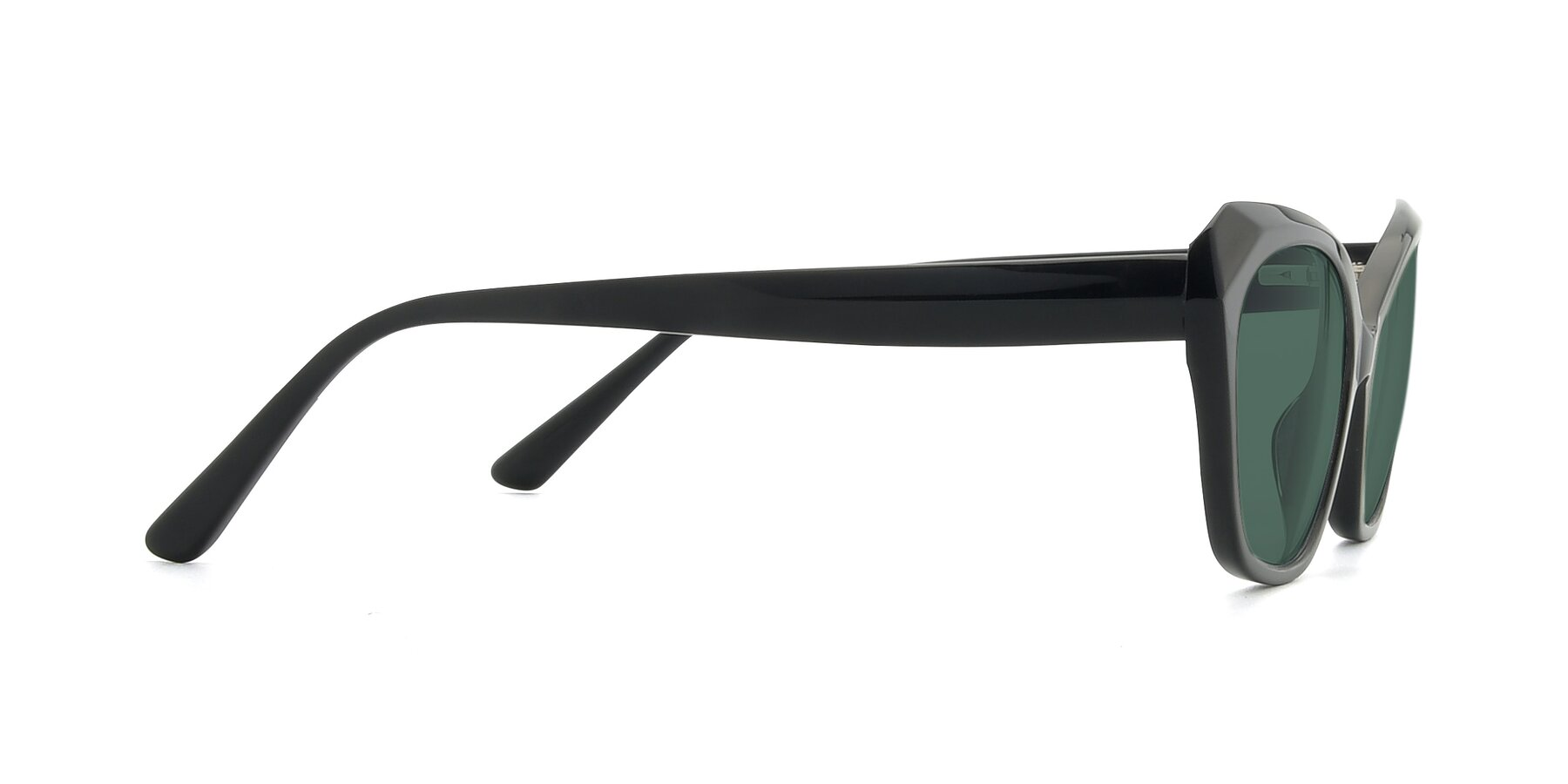 Side of 17351 in Black with Green Polarized Lenses