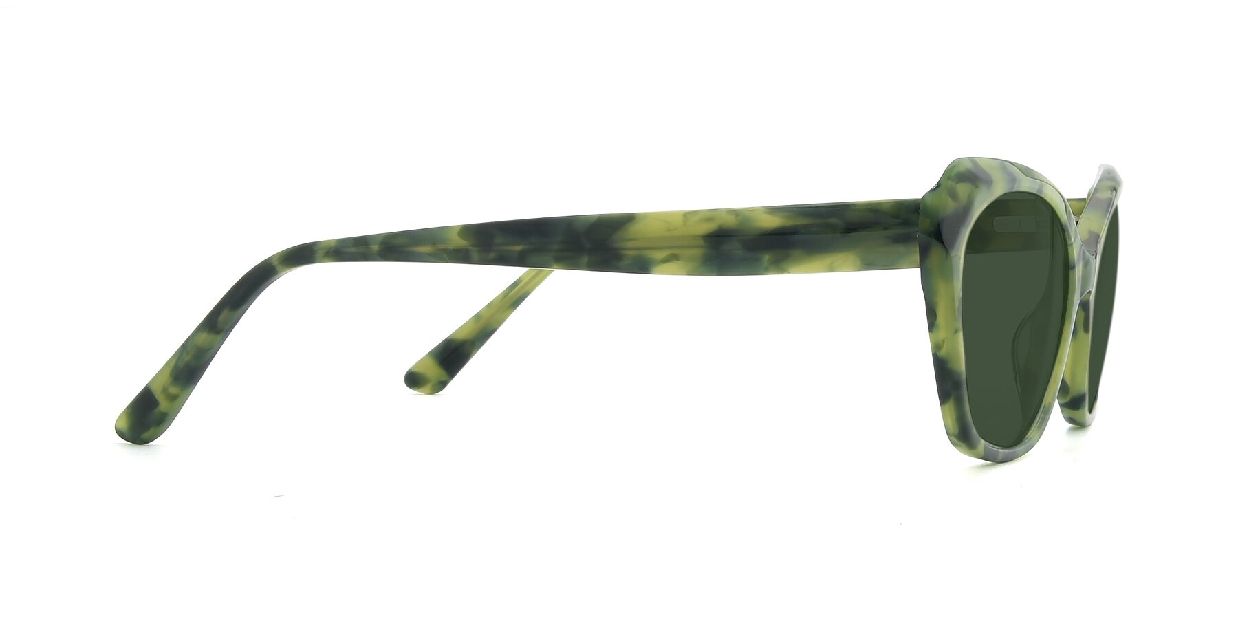 Side of 17351 in Floral Green with Green Tinted Lenses
