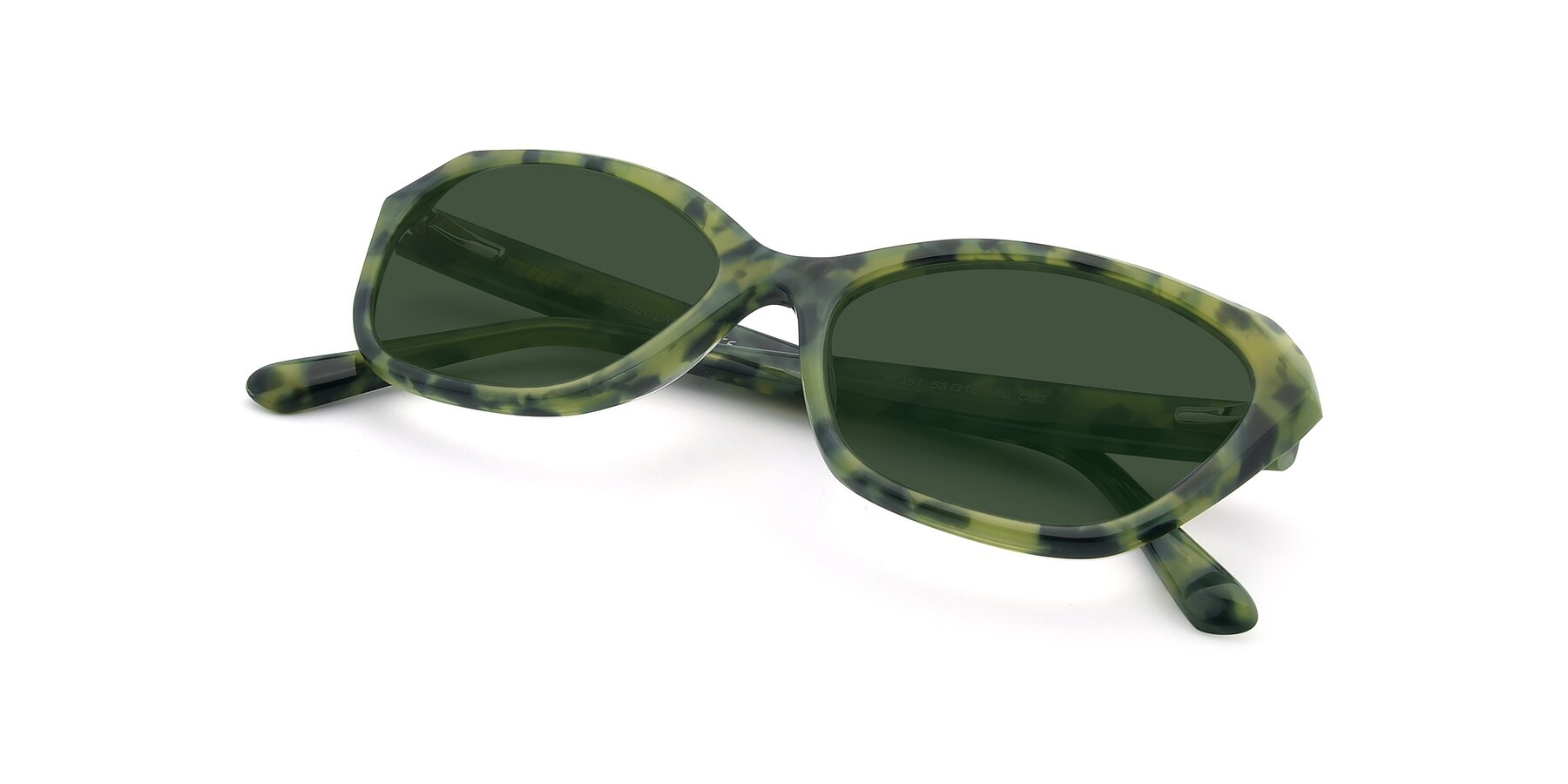 View of 17351 in Floral Green with Green Tinted Lenses