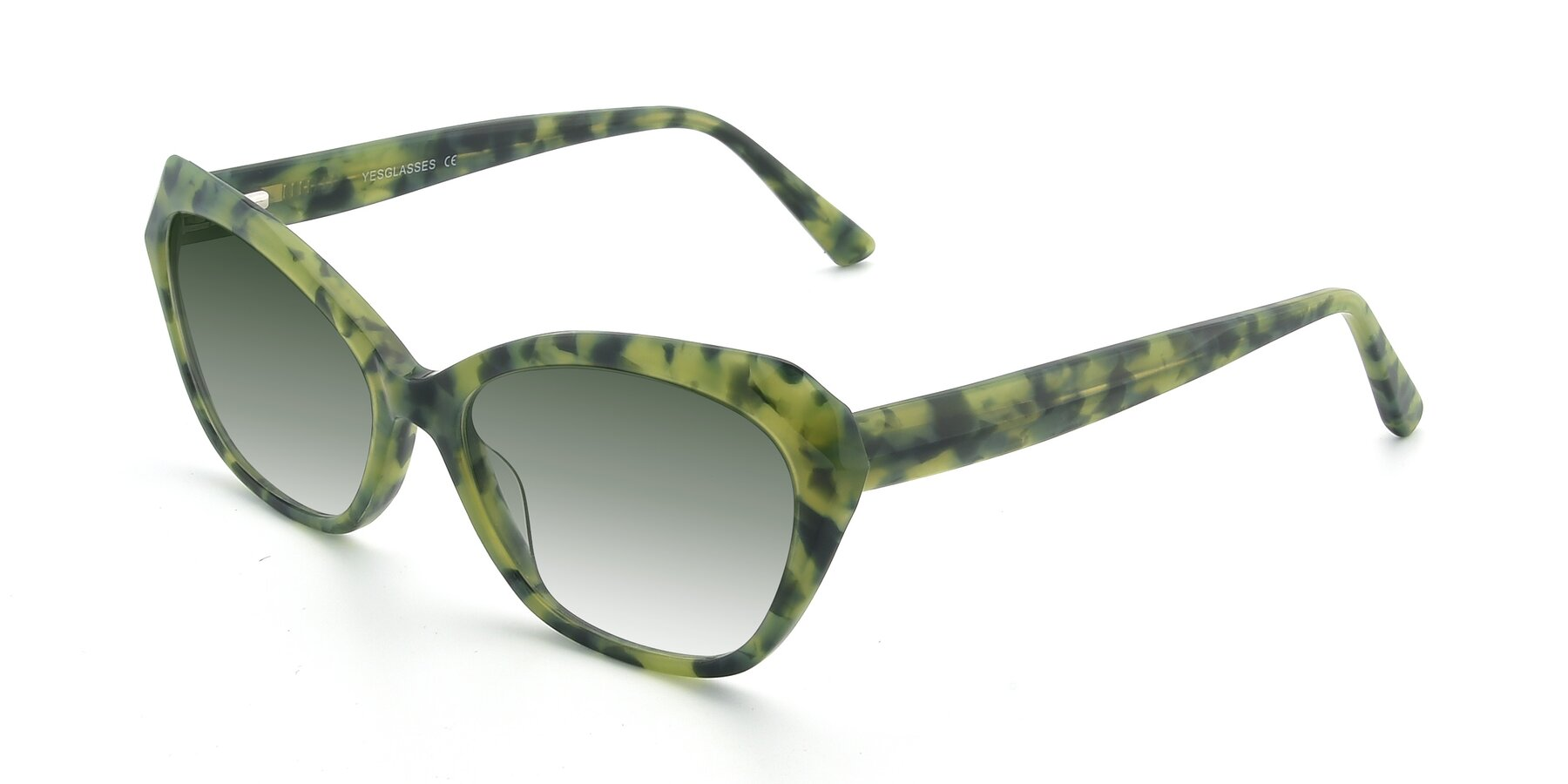 Angle of 17351 in Floral Green with Green Gradient Lenses