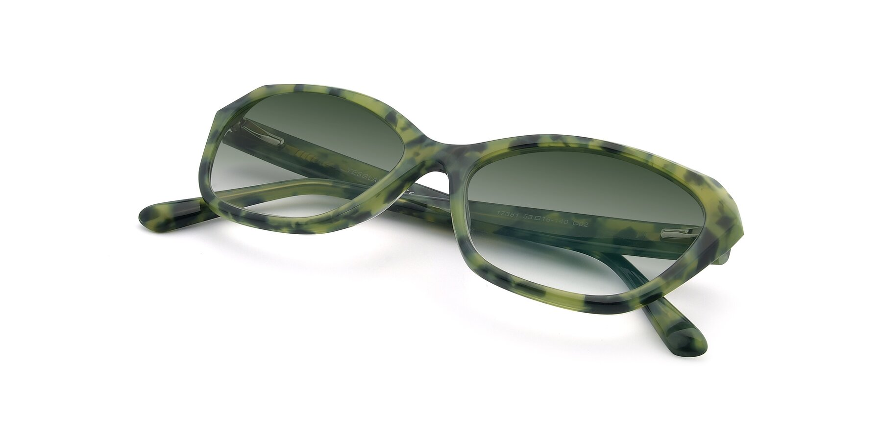 View of 17351 in Floral Green with Green Gradient Lenses