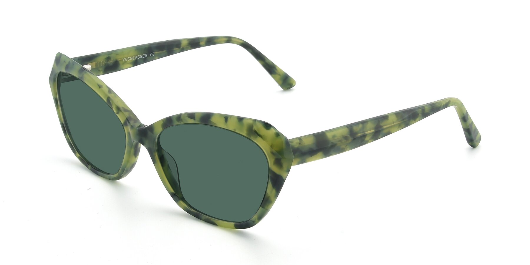 Angle of 17351 in Floral Green with Green Polarized Lenses