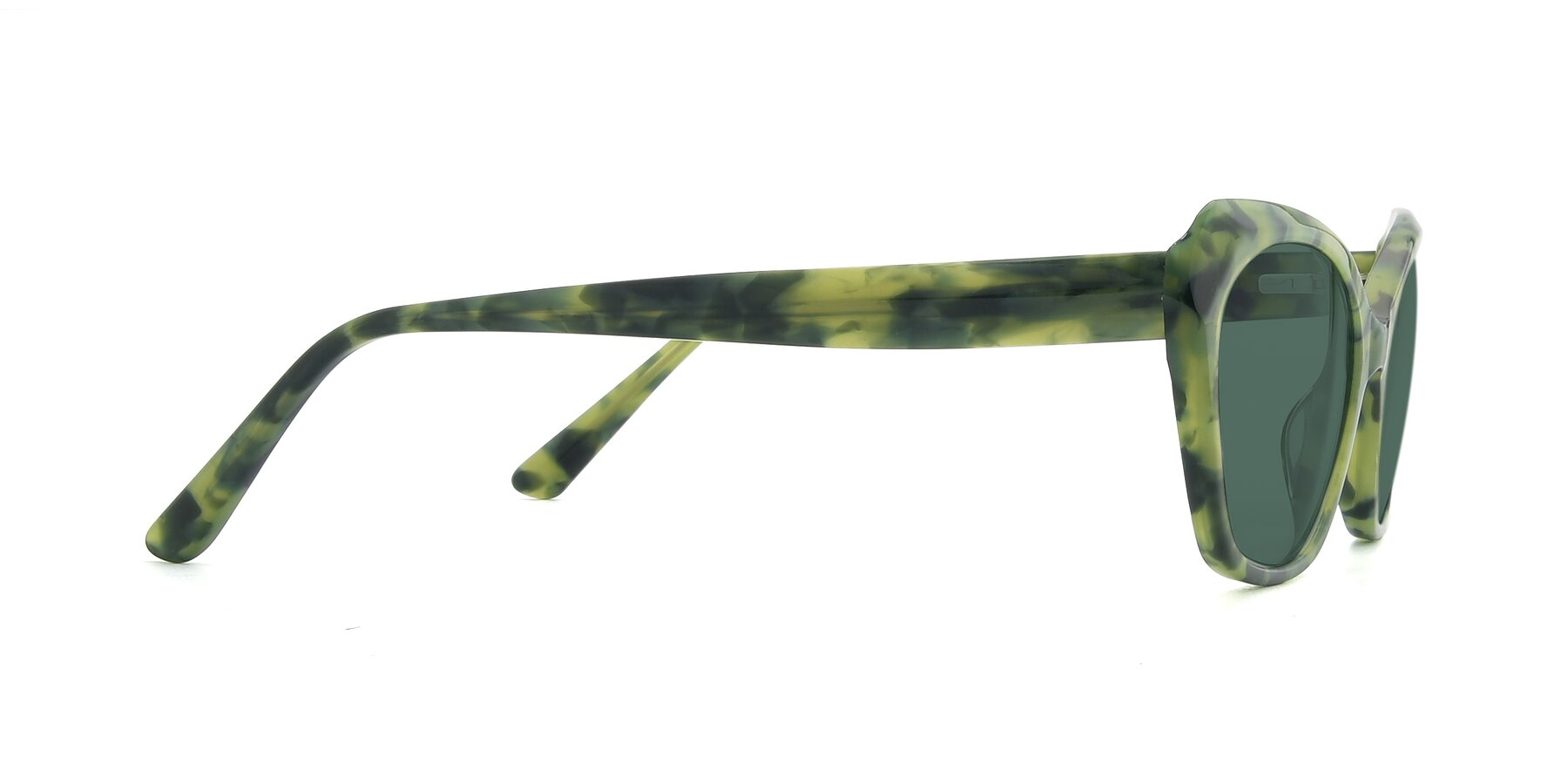 Side of 17351 in Floral Green with Green Polarized Lenses