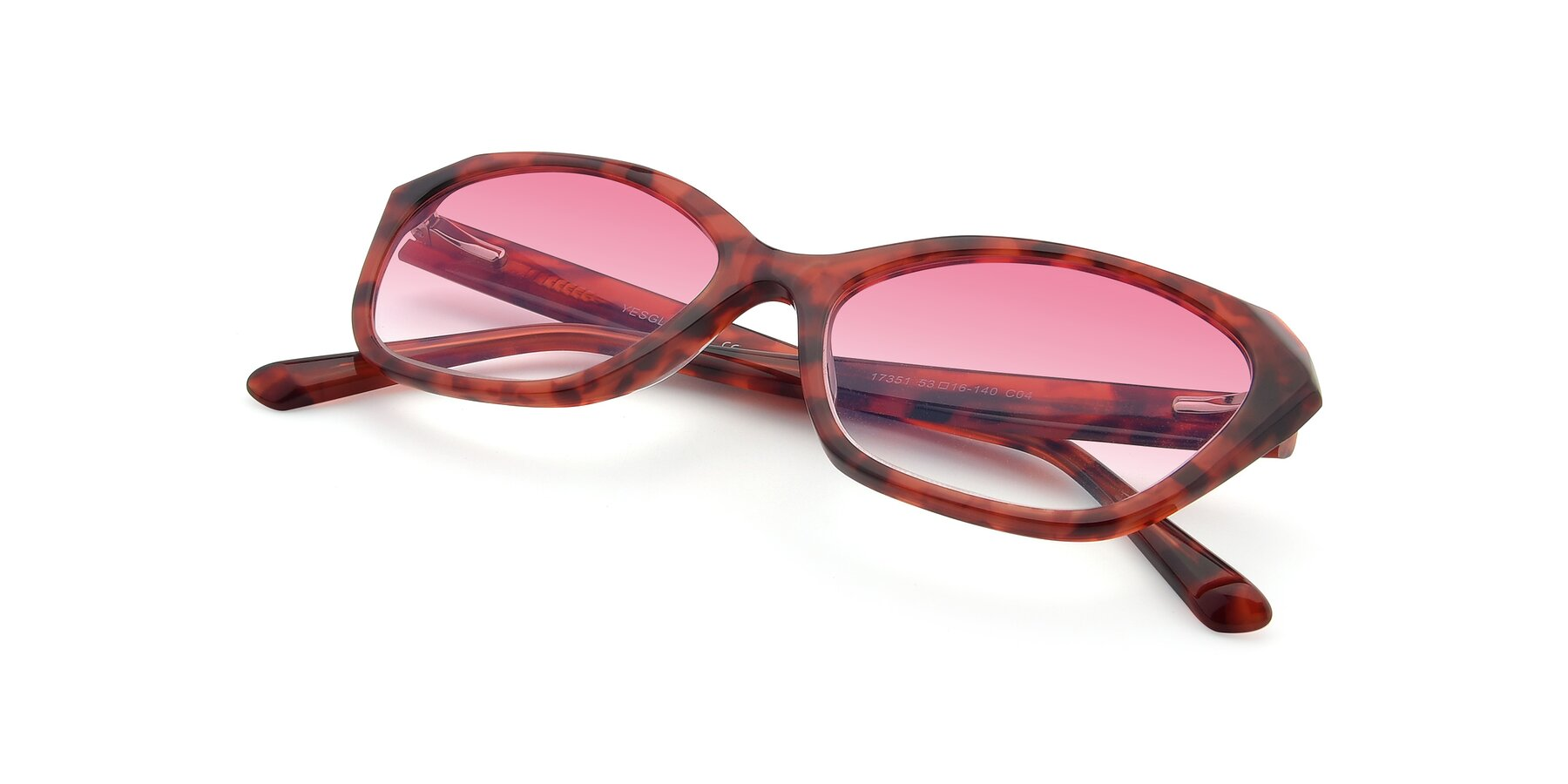 View of 17351 in Floral Red with Pink Gradient Lenses