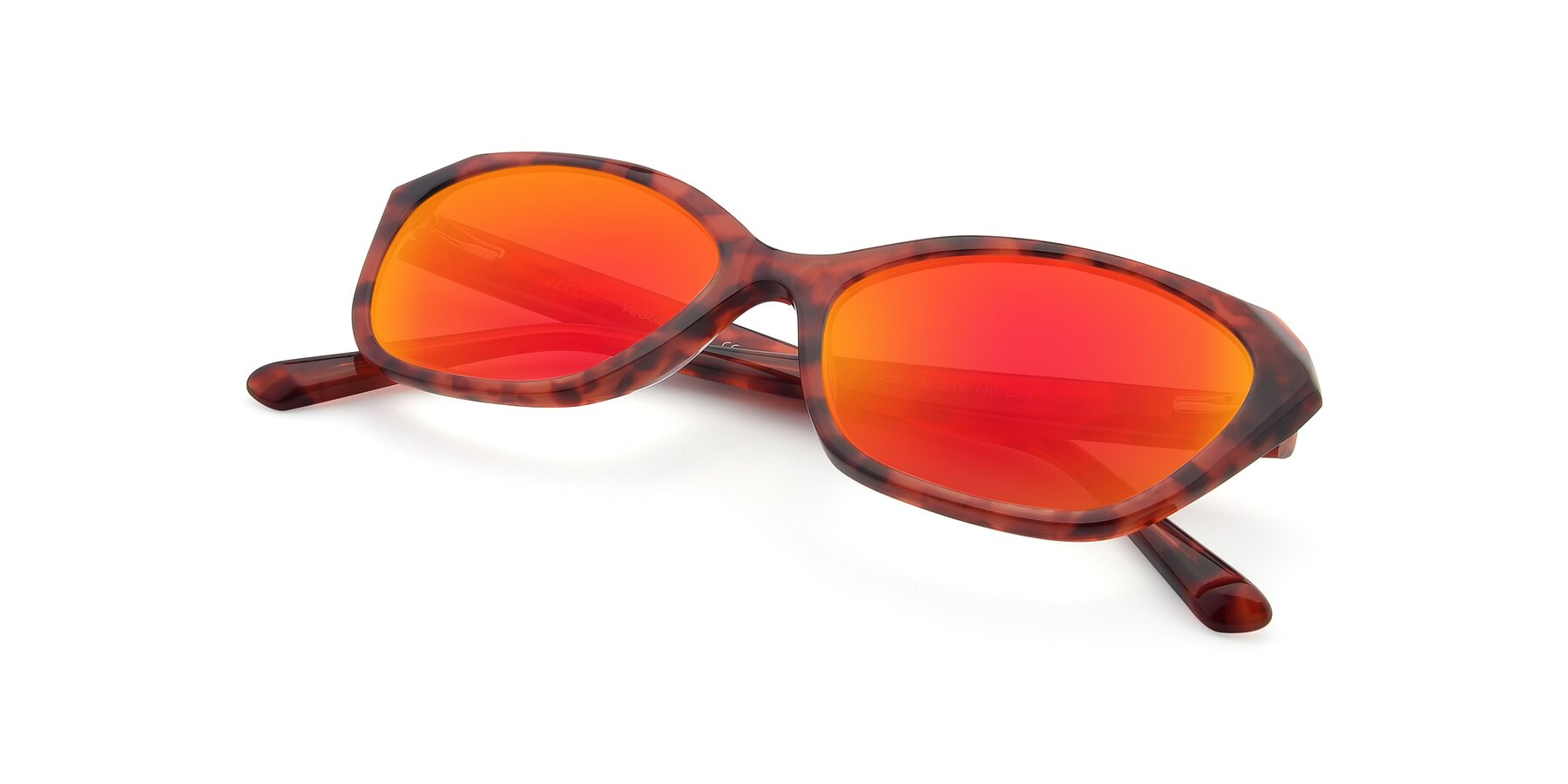 View of 17351 in Floral Red with Red Gold Mirrored Lenses