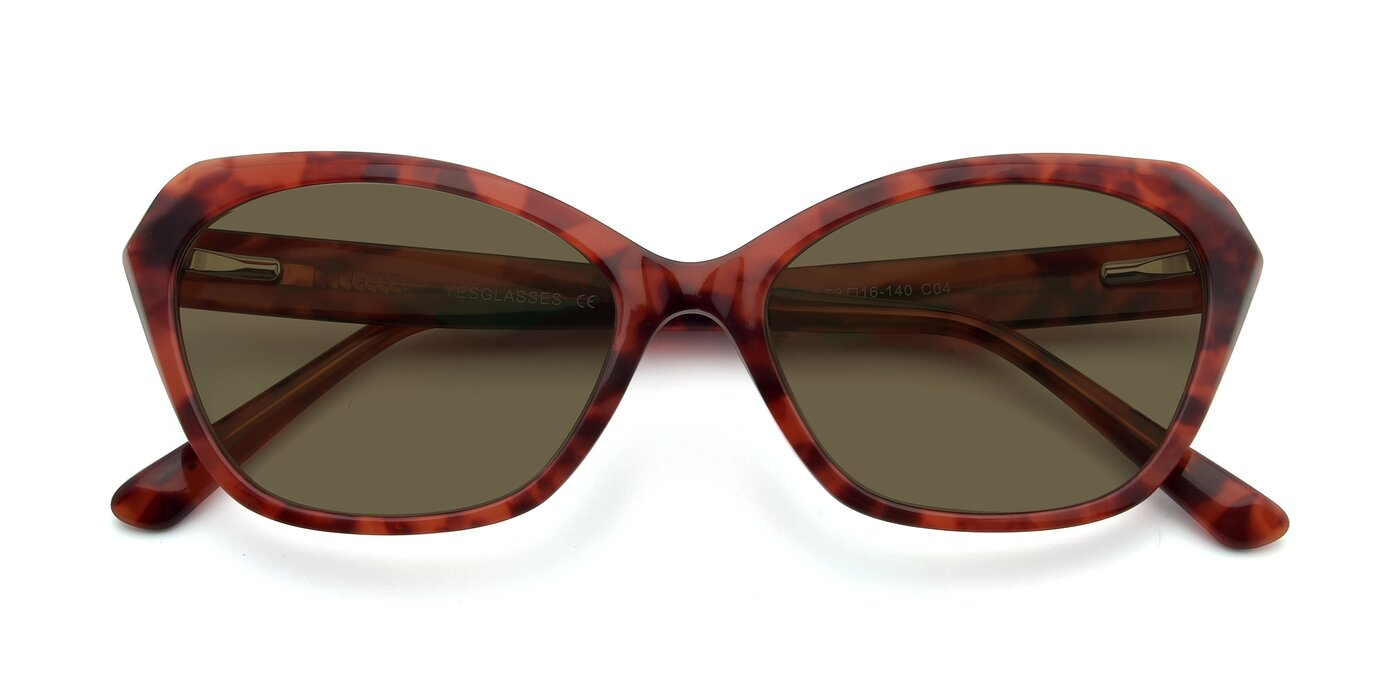 17351 - Floral Red Polarized Sunglasses