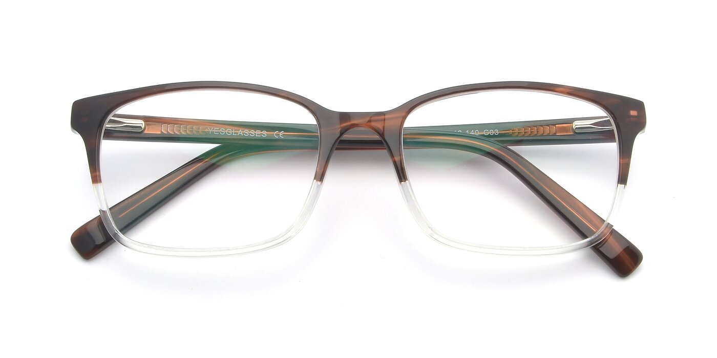 17353 - Brown / Clear Blue Light Glasses