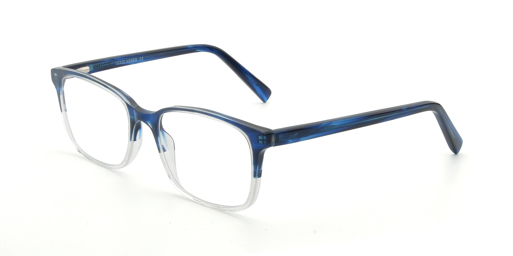 Angle of 17353 in Blue-Clear with Clear Eyeglass Lenses