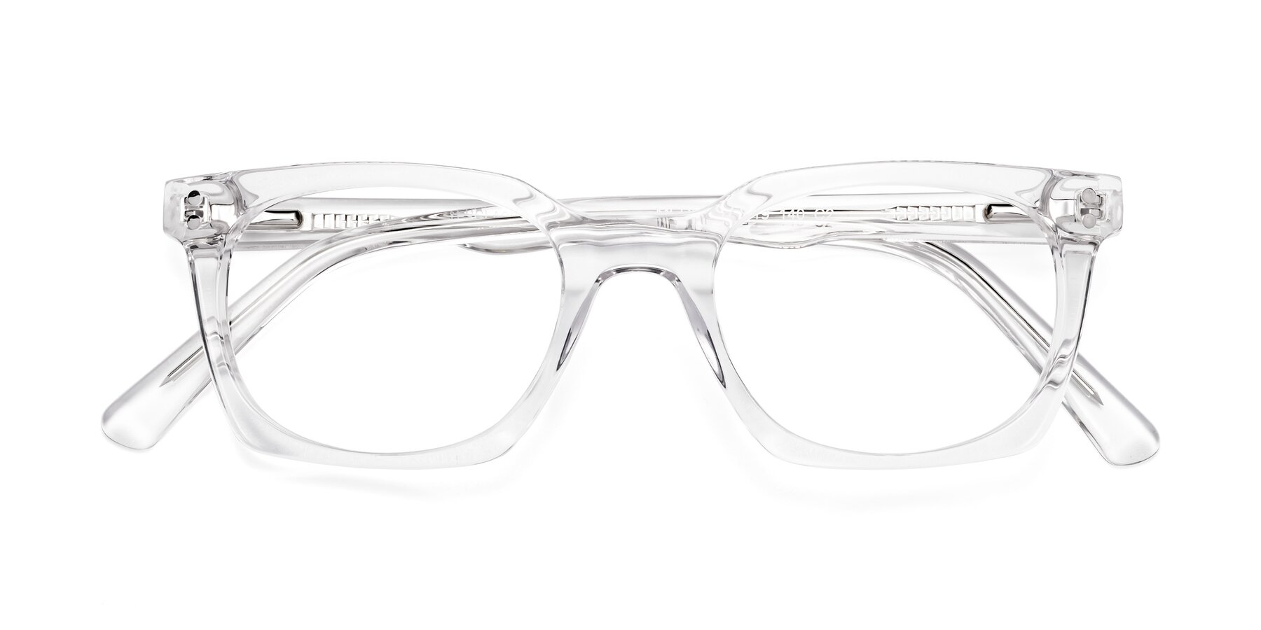 Folded Front of Medhi in Clear with Clear Blue Light Blocking Lenses