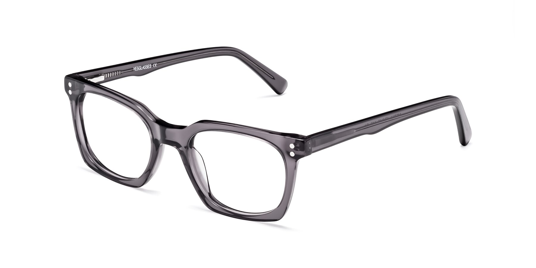 Angle of 17355 in Transparent Gray with Clear Eyeglass Lenses