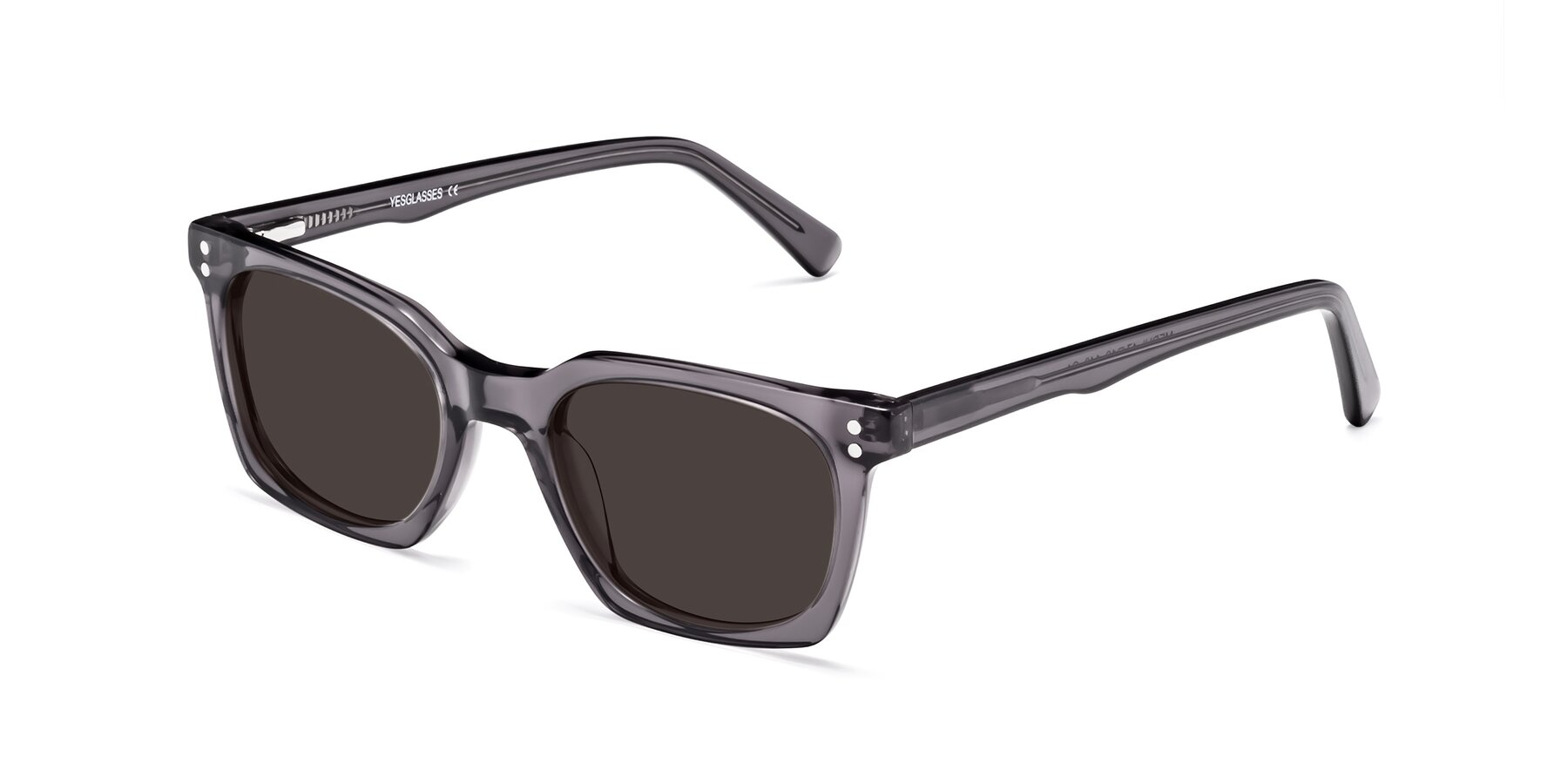 Angle of 17355 in Transparent Gray with Gray Tinted Lenses