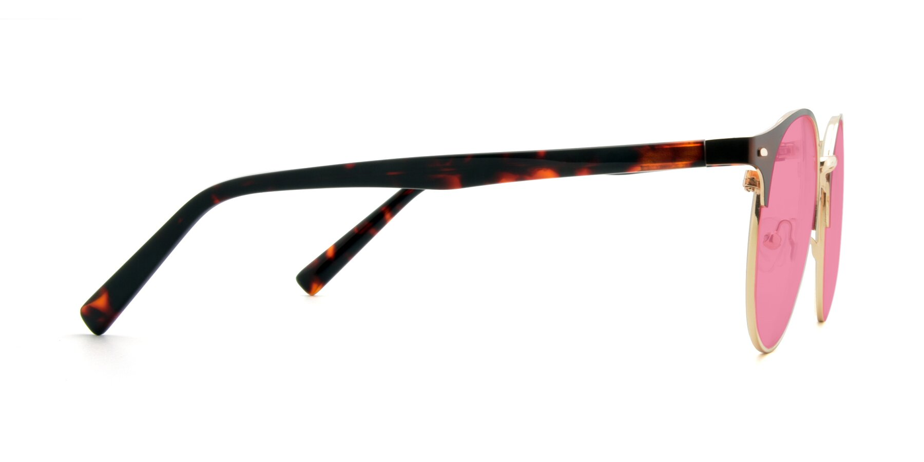 Side of 9099 in Brown-Gold with Pink Tinted Lenses