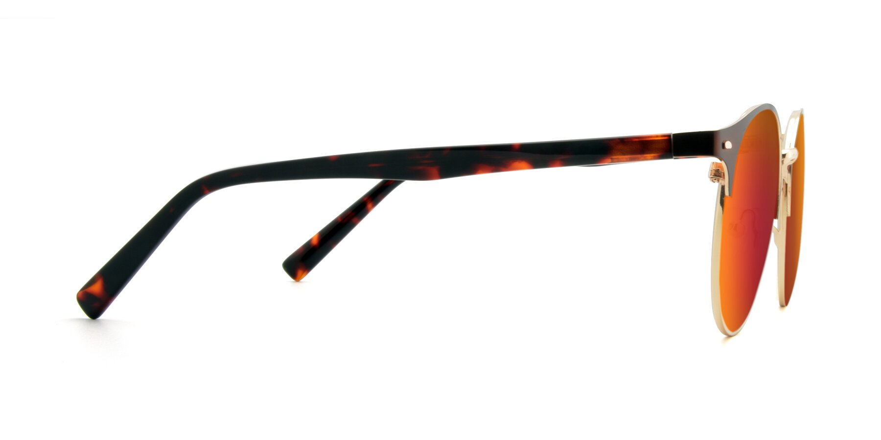 Side of 9099 in Brown-Gold with Red Gold Mirrored Lenses