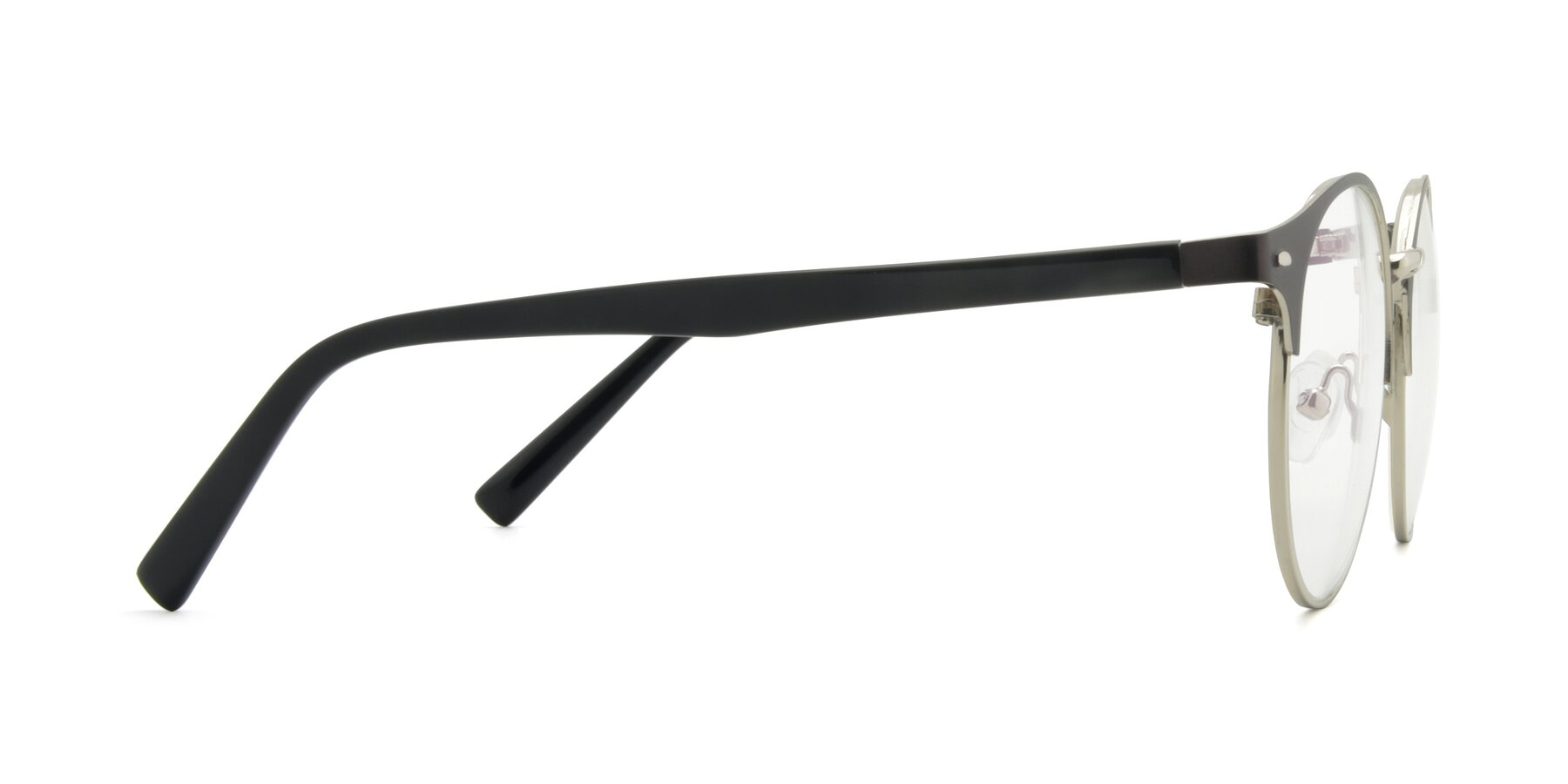 Side of 9099 in Gray-Silver with Clear Eyeglass Lenses