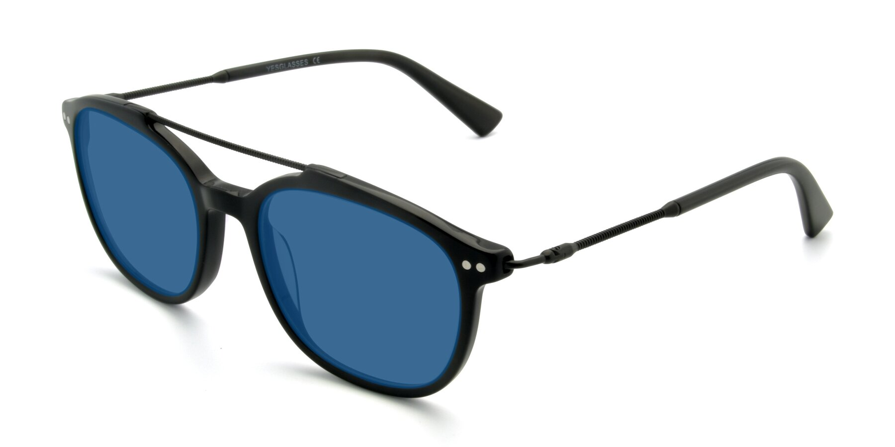 Angle of 17150 in Black with Blue Tinted Lenses
