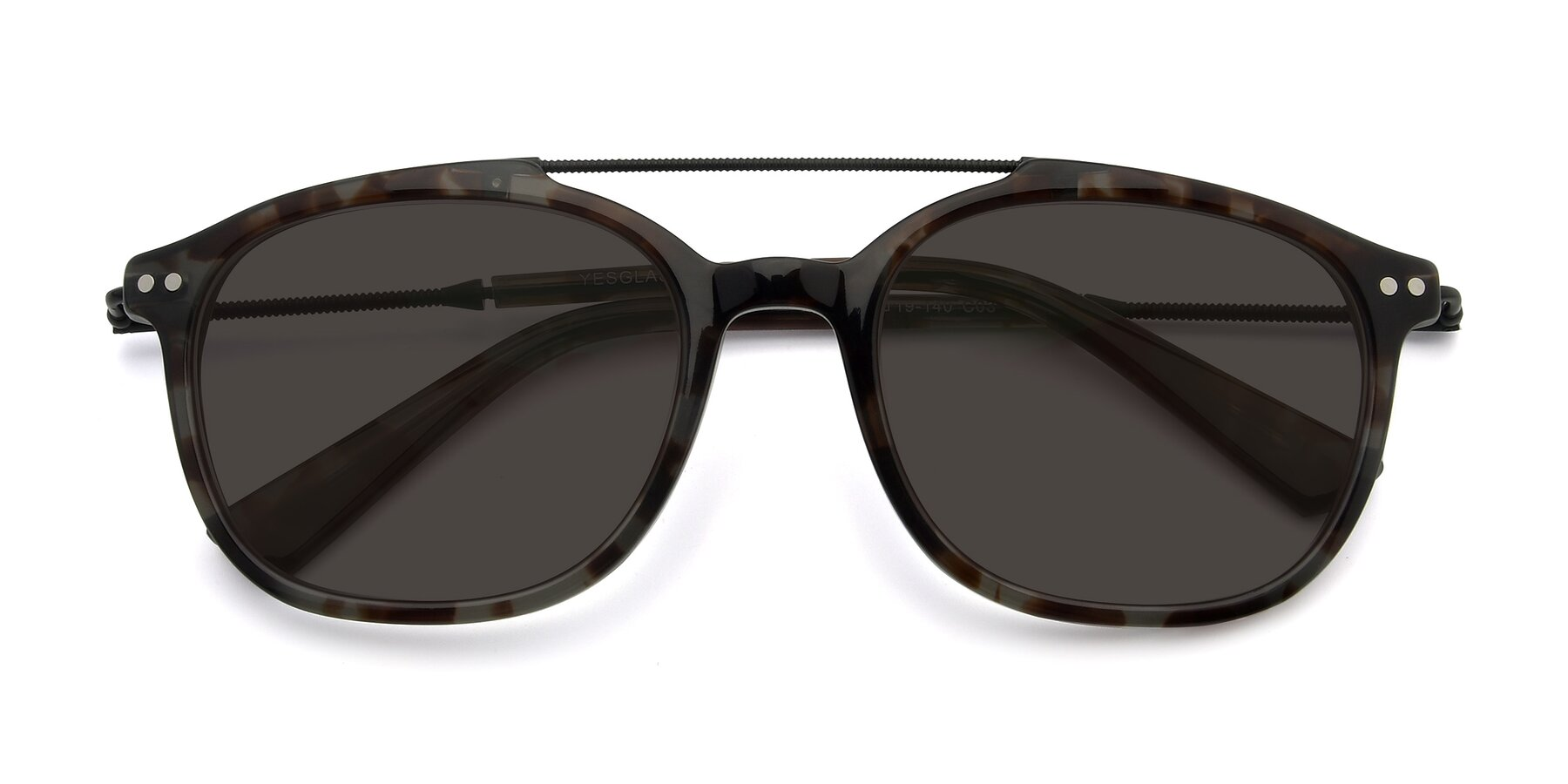 Folded Front of 17150 in Tortoise Navy with Gray Tinted Lenses