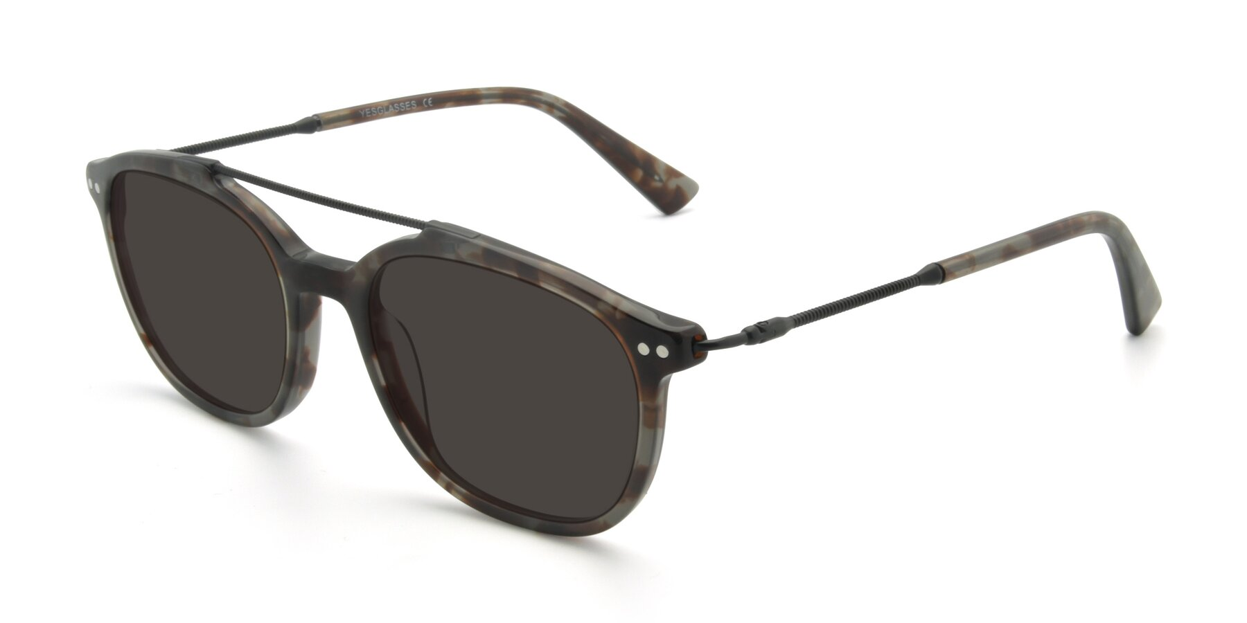 Angle of 17150 in Tortoise Navy with Gray Tinted Lenses