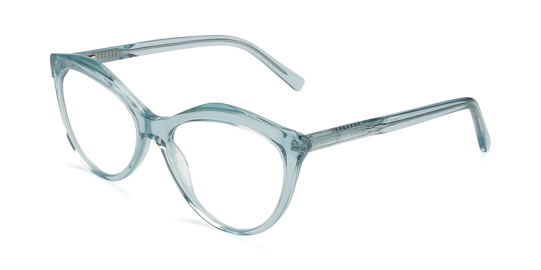 Angle of 17154 in Transparent Green with Clear Eyeglass Lenses