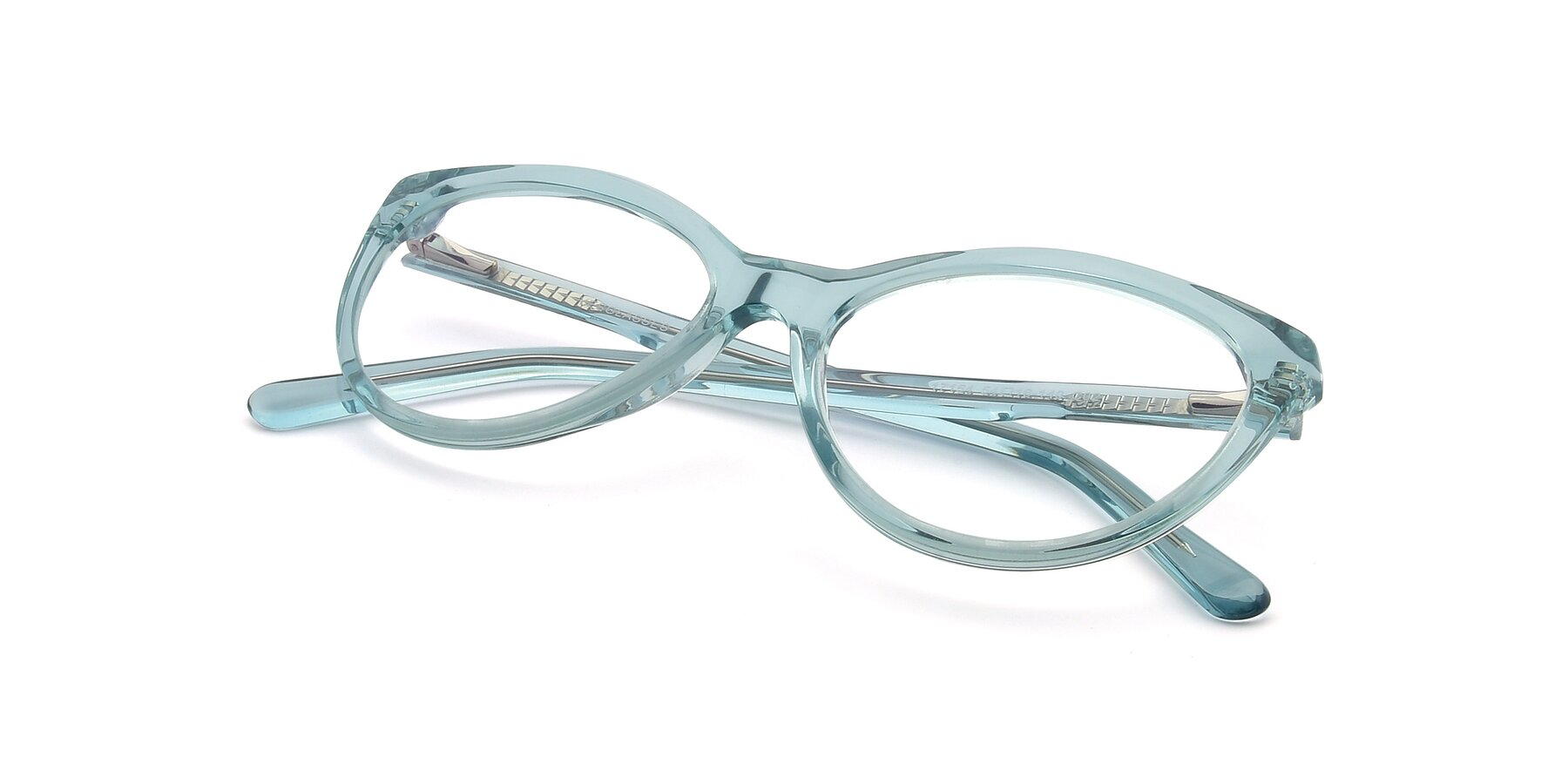 View of 17154 in Transparent Green with Clear Eyeglass Lenses