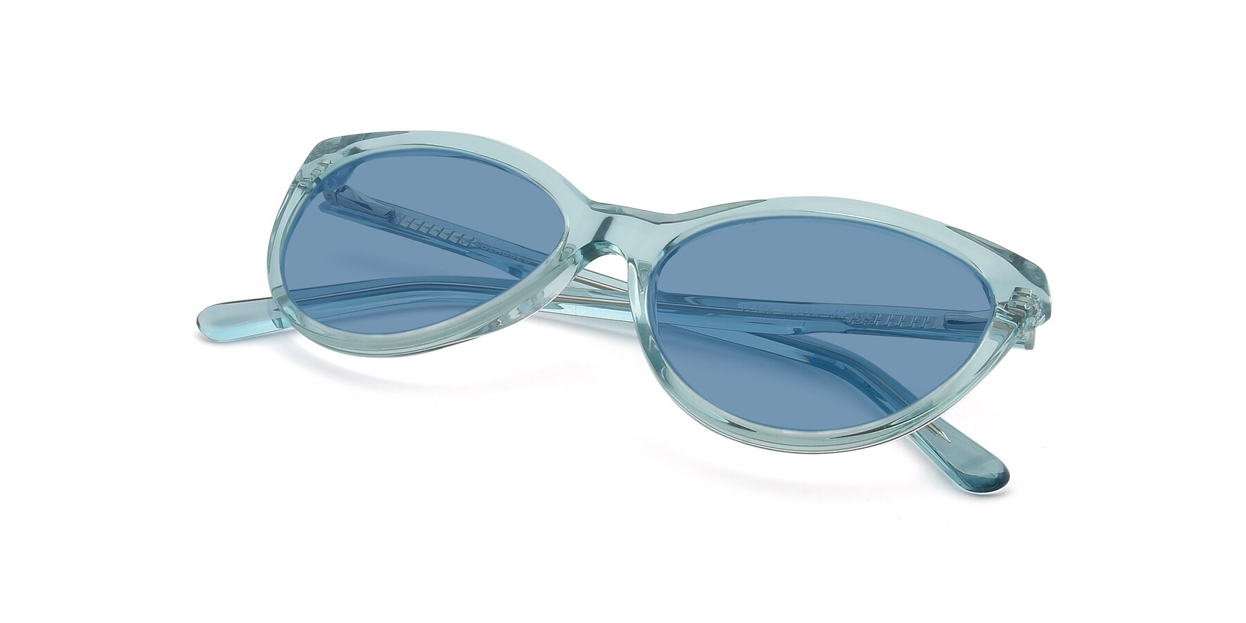 View of 17154 in Transparent Green with Medium Blue Tinted Lenses