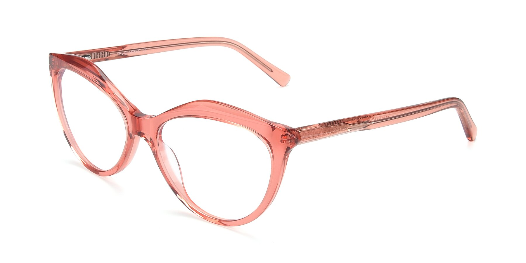 Angle of 17154 in Transparent Red with Clear Eyeglass Lenses