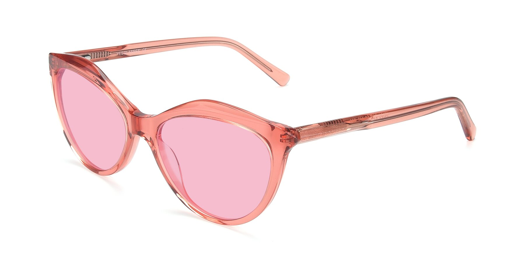 Angle of 17154 in Transparent Red with Medium Pink Tinted Lenses