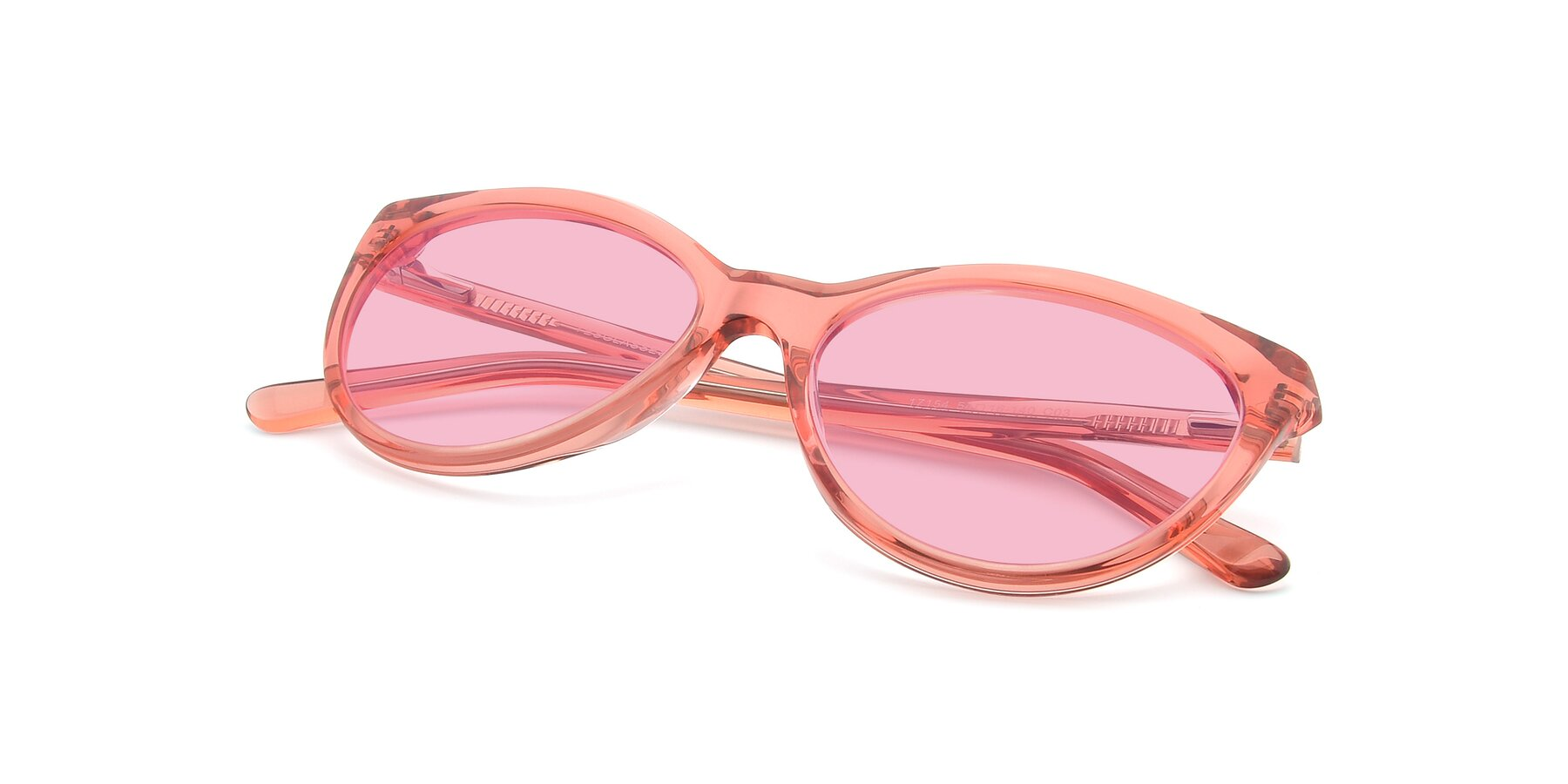View of 17154 in Transparent Red with Medium Pink Tinted Lenses