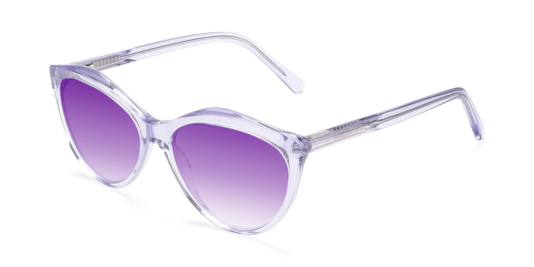 Angle of 17154 in Transparent Lavender with Purple Gradient Lenses