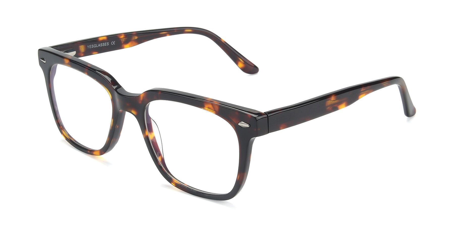 Angle of 17165 in Tortoise with Clear Blue Light Blocking Lenses