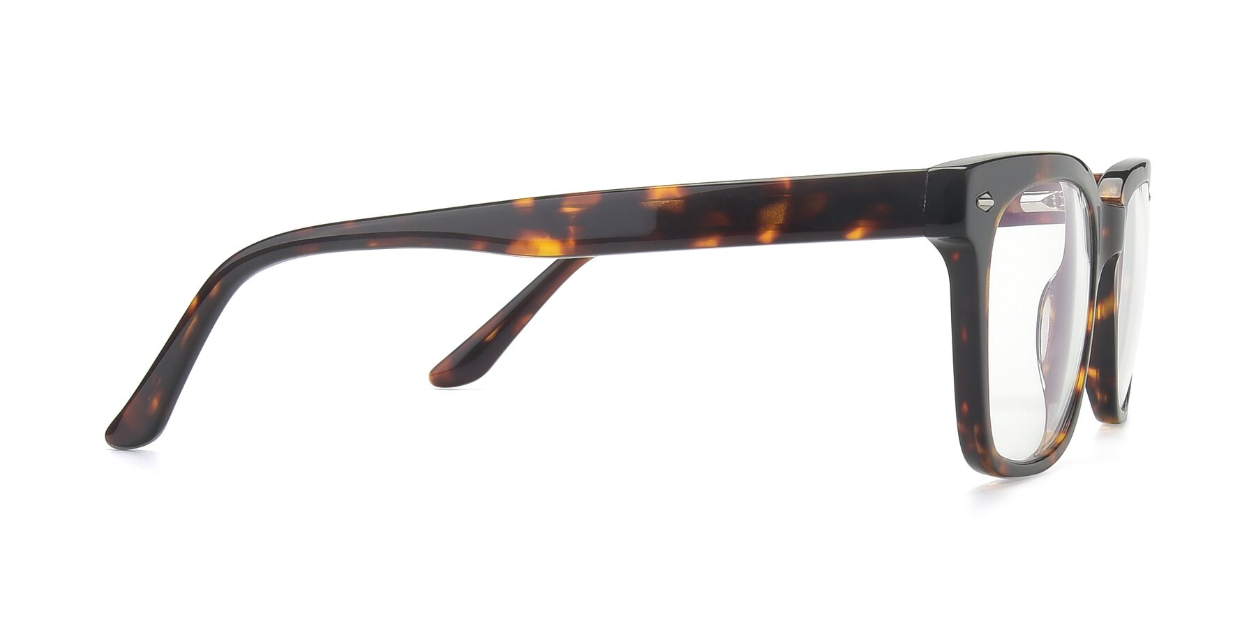 Side of 17165 in Tortoise with Clear Blue Light Blocking Lenses