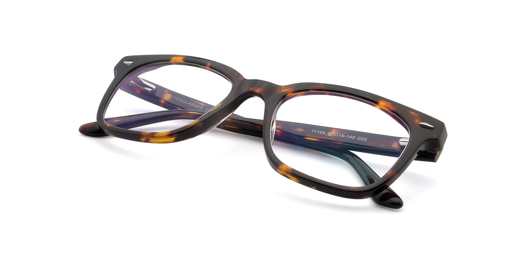 View of 17165 in Tortoise with Clear Blue Light Blocking Lenses