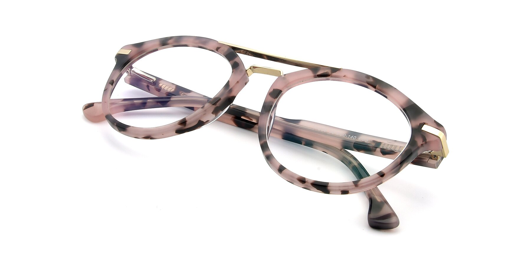 View of 17236 in Havana Floral-Gold with Clear Eyeglass Lenses