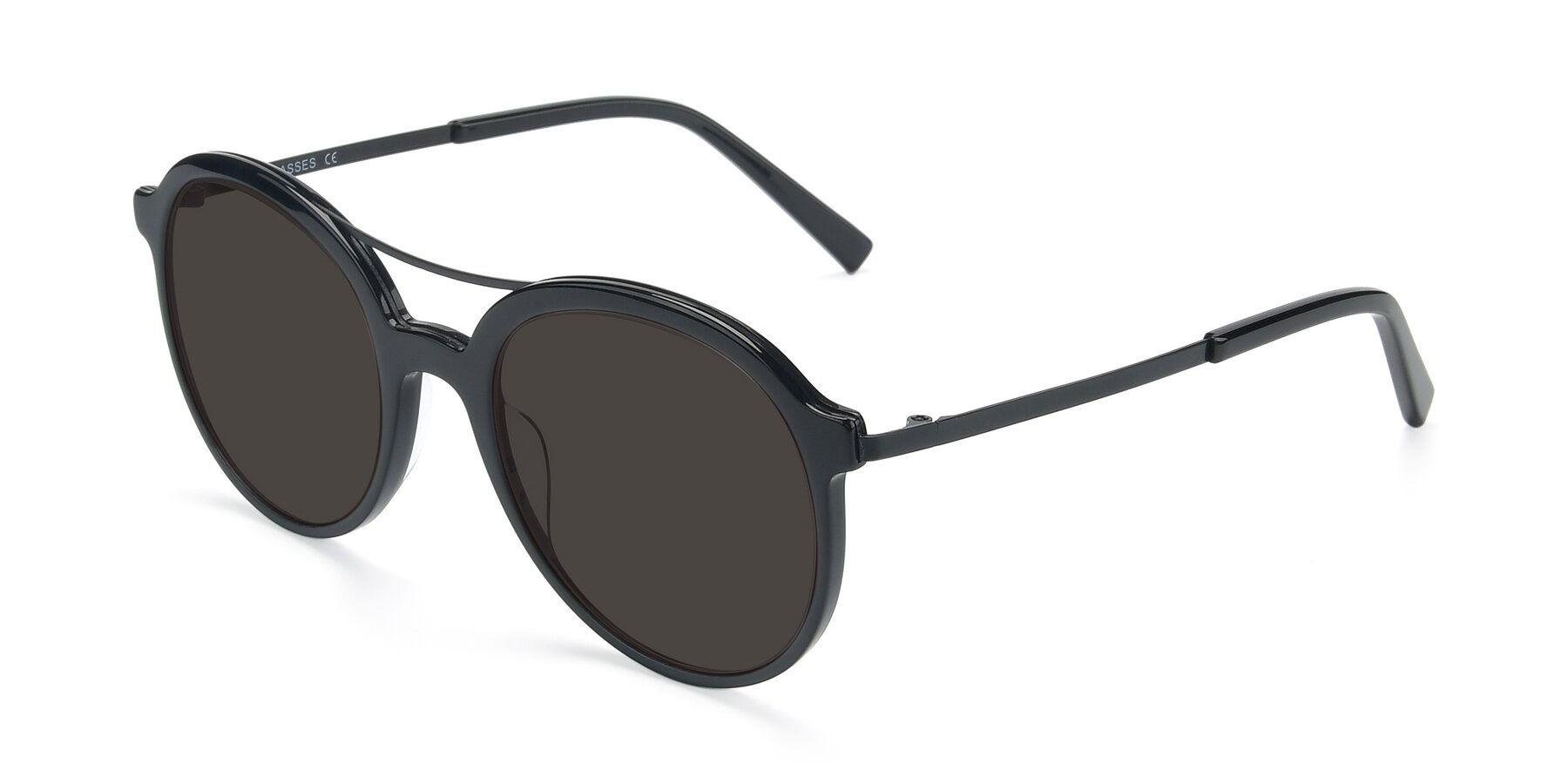 Angle of 17268 in Black with Gray Tinted Lenses