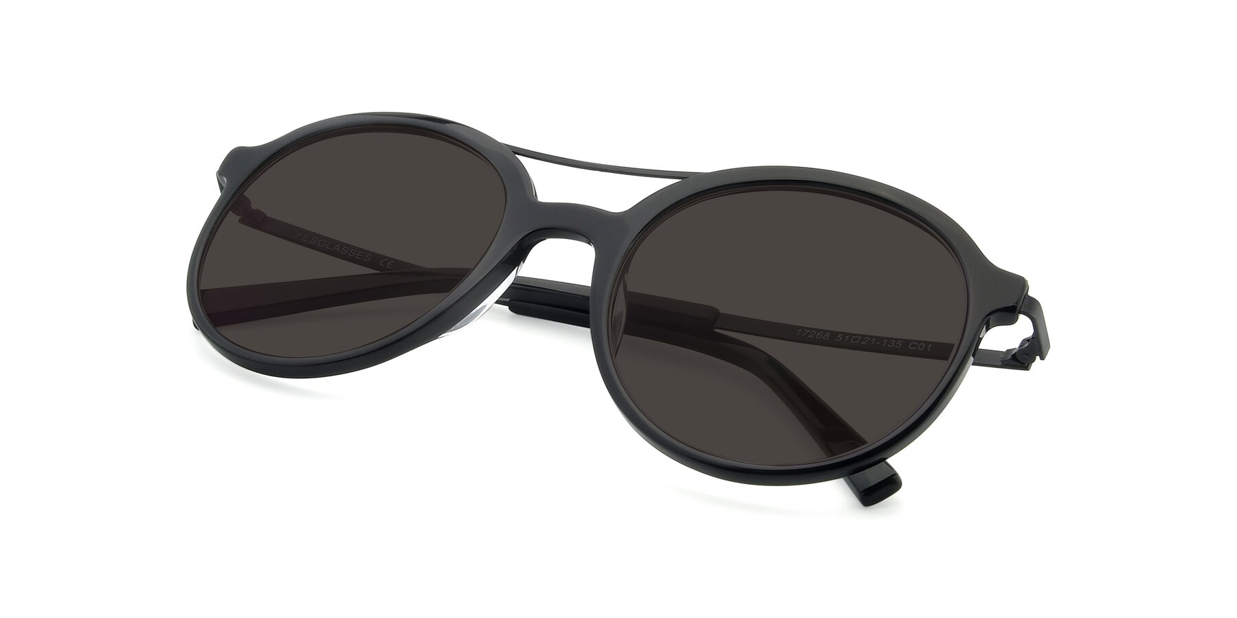 View of 17268 in Black with Gray Tinted Lenses