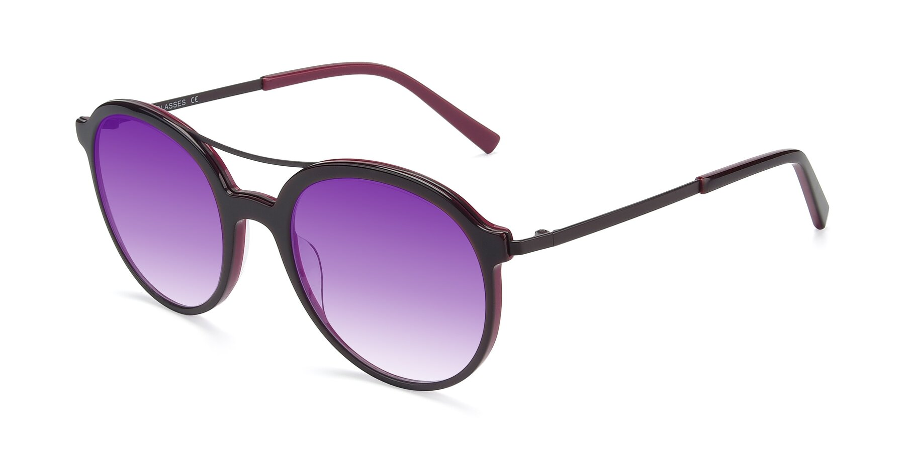 Angle of 17268 in Wine with Purple Gradient Lenses