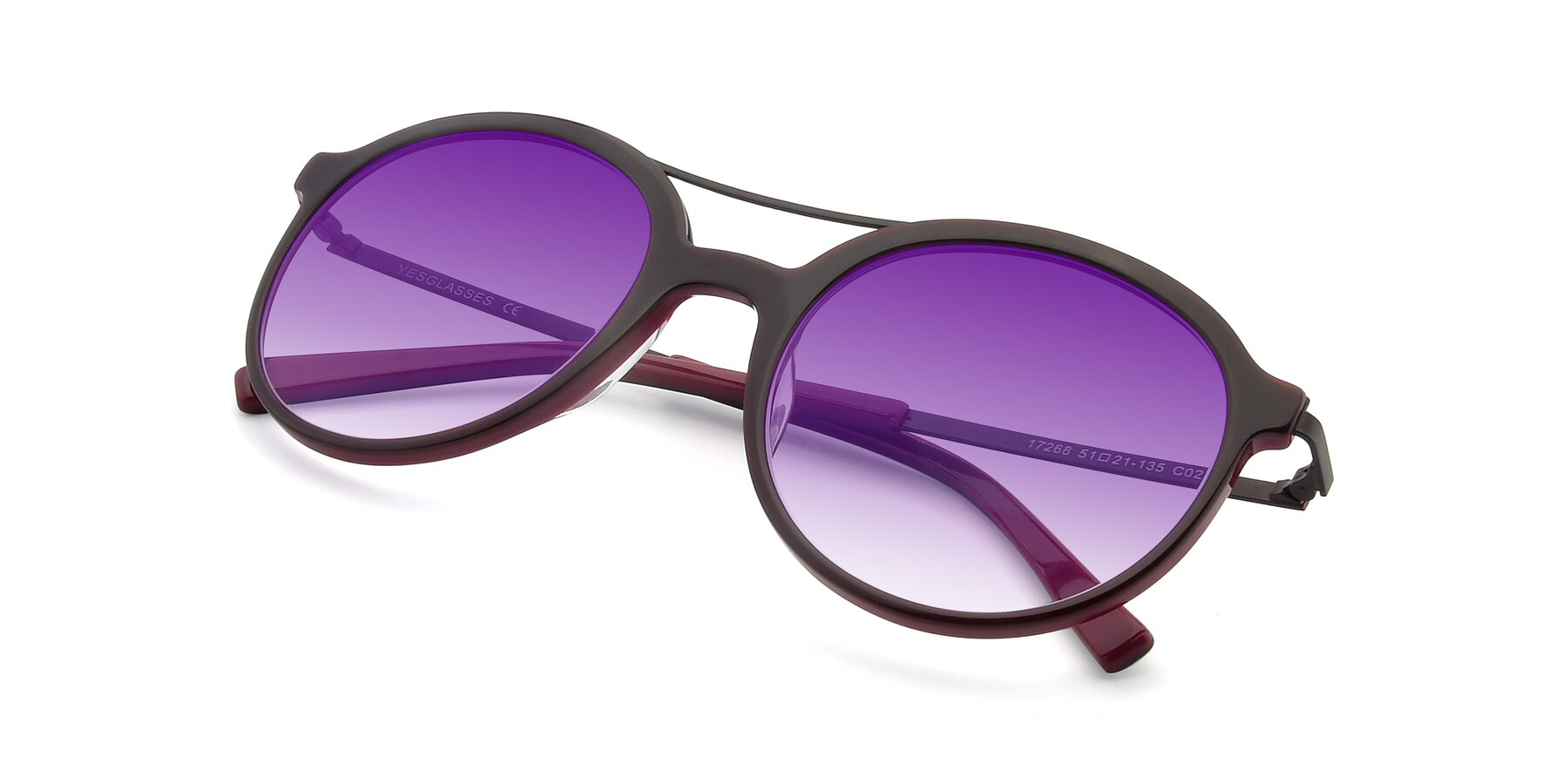 View of 17268 in Wine with Purple Gradient Lenses