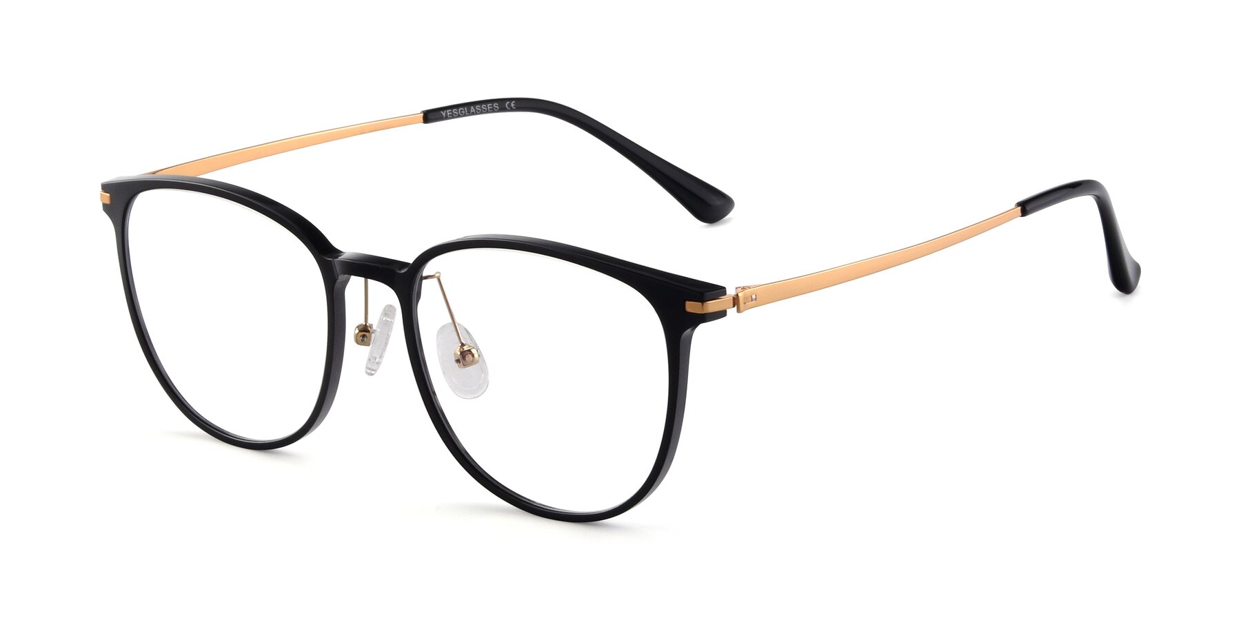 Angle of Justice in Black with Clear Eyeglass Lenses