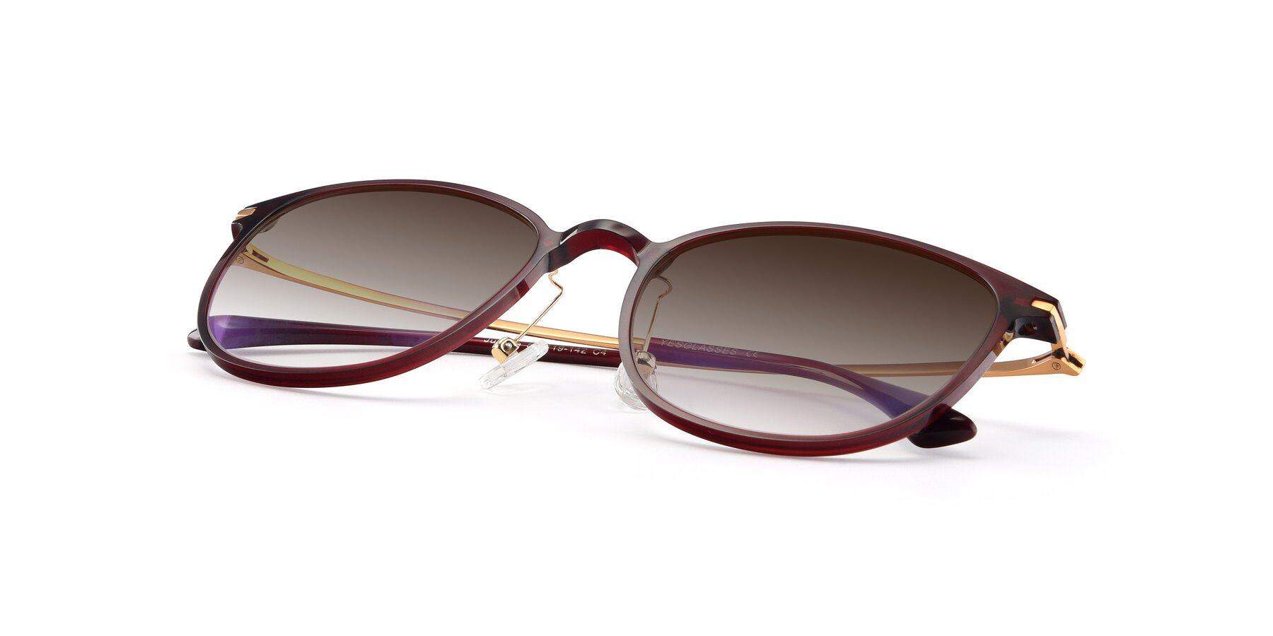 View of Justice in Wine with Brown Gradient Lenses