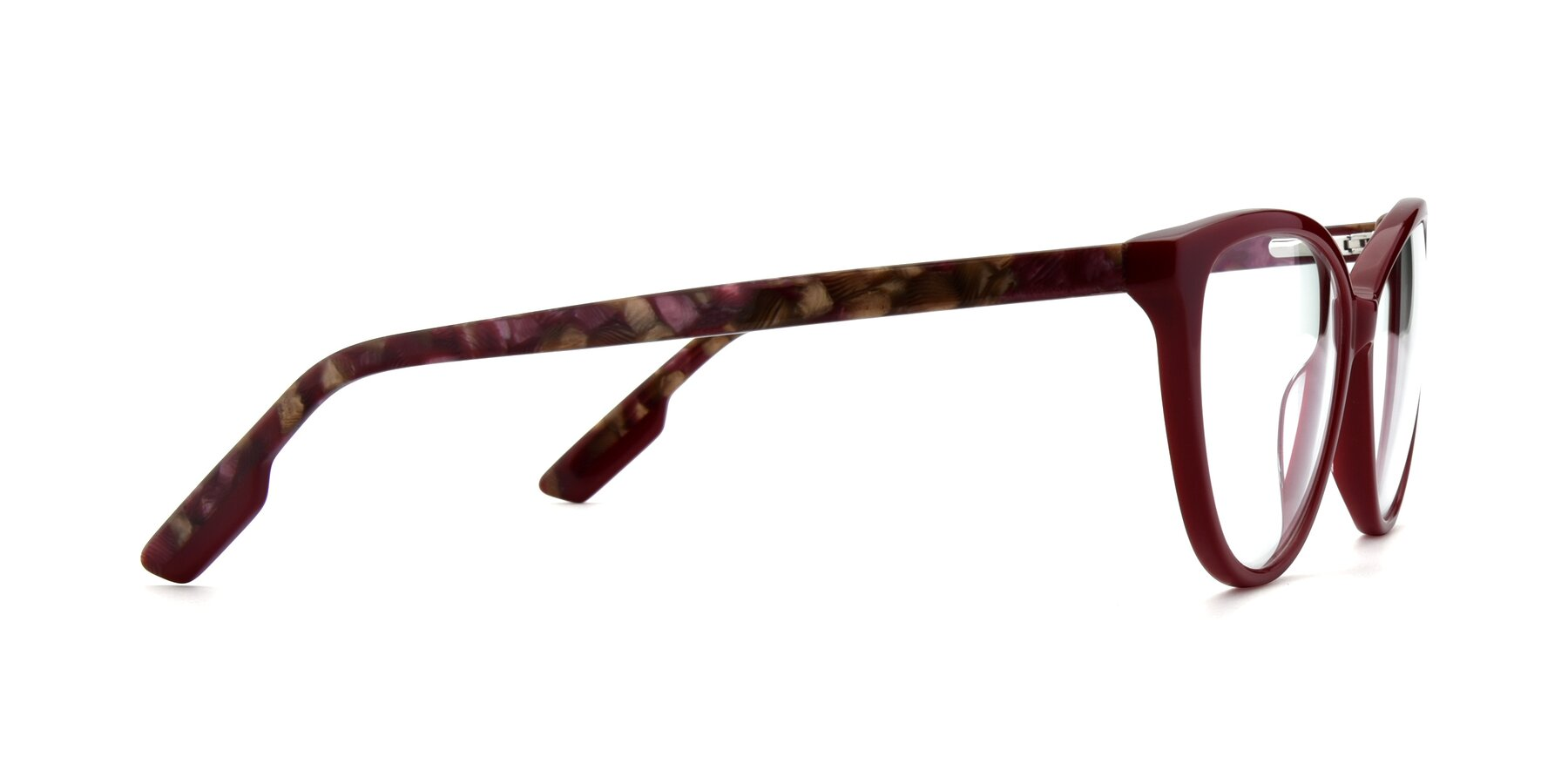 Side of 17324 in Wine with Clear Eyeglass Lenses