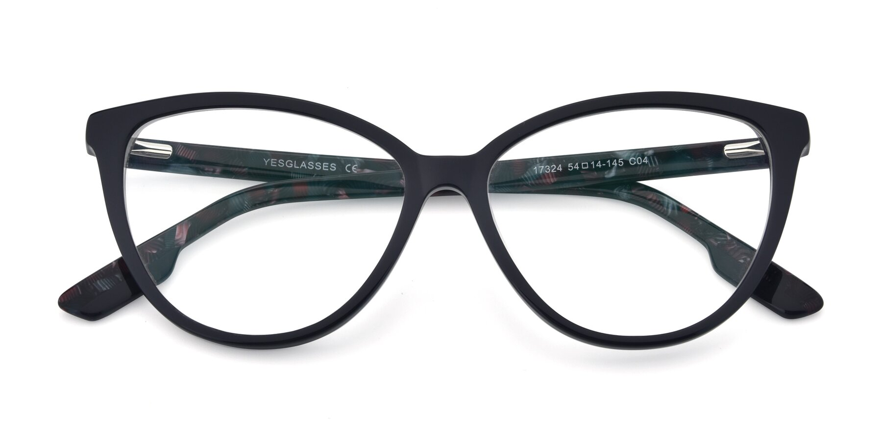 Folded Front of 17324 in Dark Blue with Clear Eyeglass Lenses
