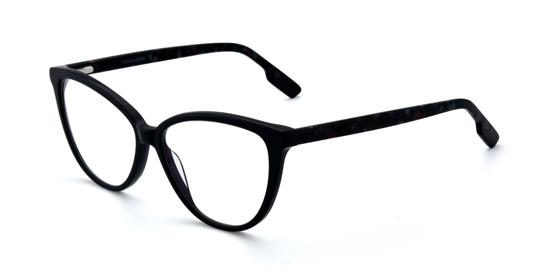 Angle of 17324 in Dark Blue with Clear Eyeglass Lenses