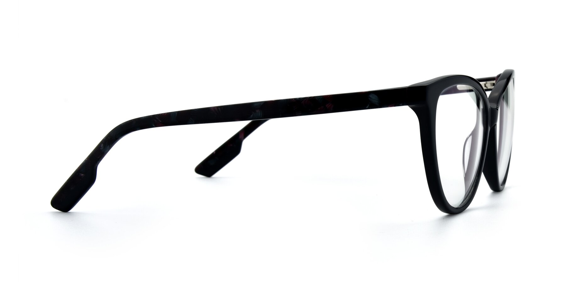 Side of 17324 in Dark Blue with Clear Eyeglass Lenses
