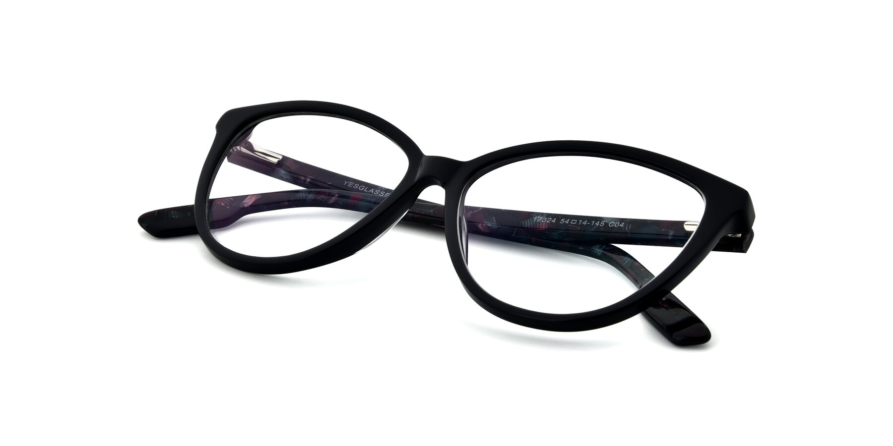 View of 17324 in Dark Blue with Clear Eyeglass Lenses