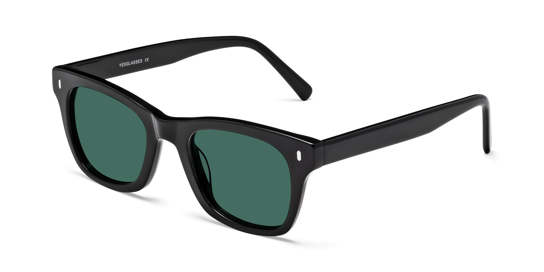 Angle of 17329 in Black with Green Polarized Lenses